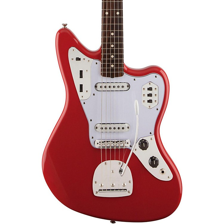 FenderClassic '60s Jaguar Lacquer Rosewood Fingerboard Electric GuitarFiesta Red