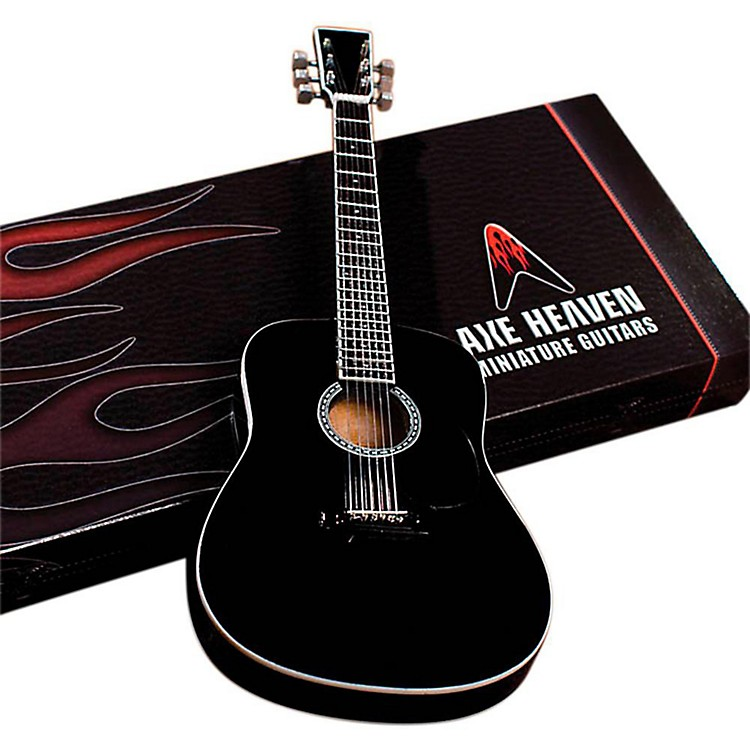 Hal Leonard Classic Black Finish Acoustic Miniature Guitar Replica Collectible