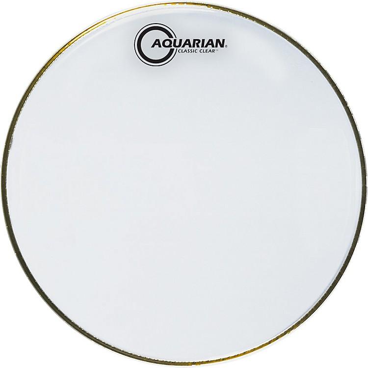AquarianClassic Clear DrumheadBlack8 in.