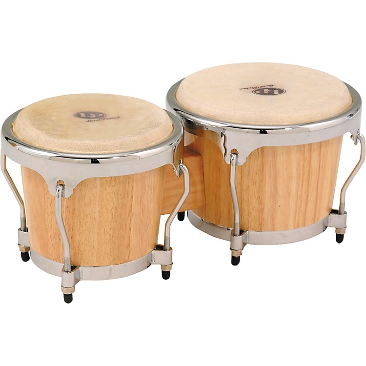 LP Classic II Bongos with Chrome Hardware Natural