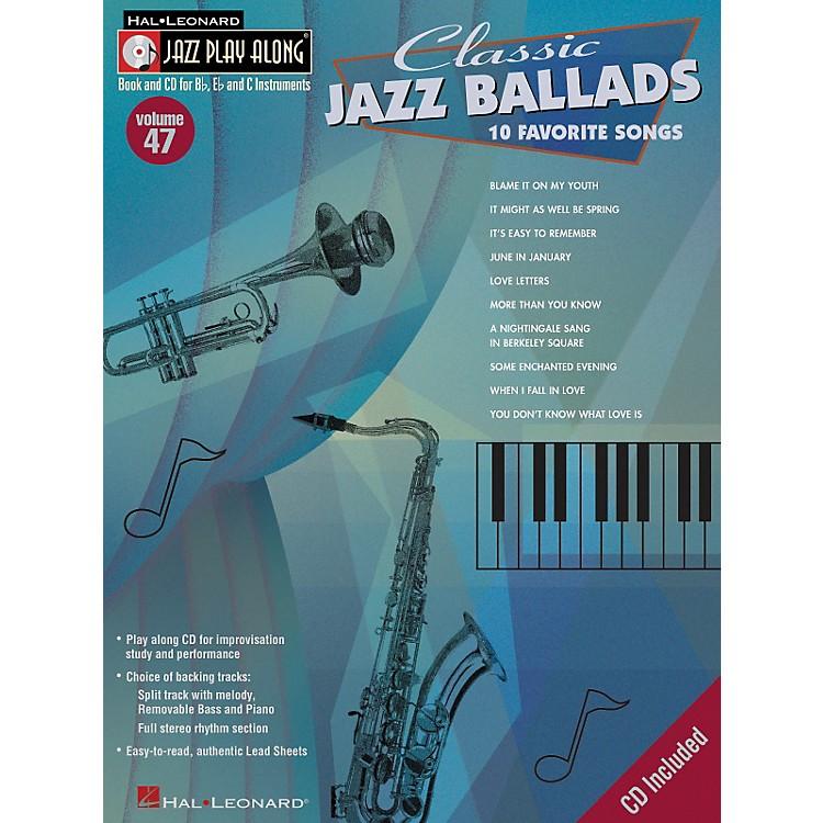 Hal LeonardClassic Jazz Ballads--Jazz Play Along Volume 47 Book with CD
