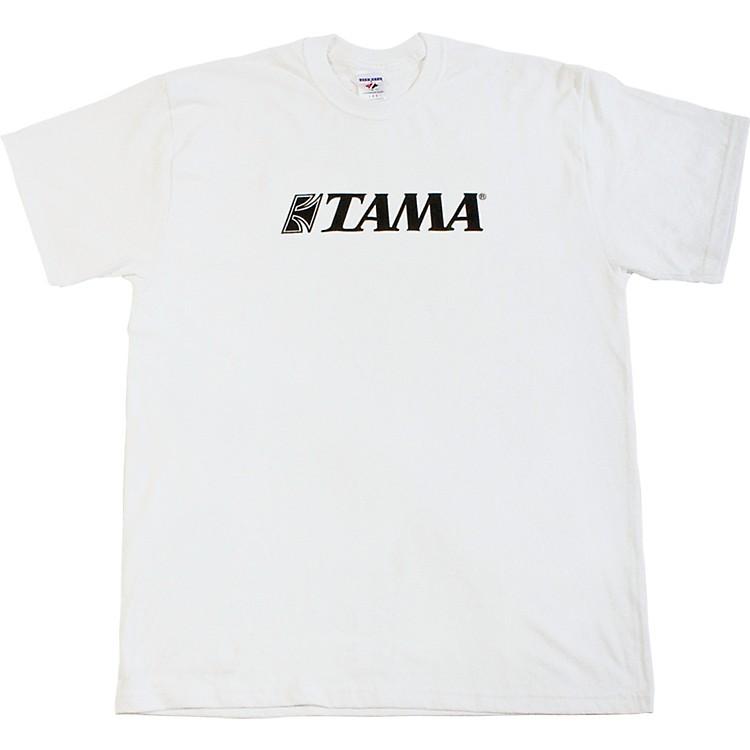TamaClassic Logo T-ShirtWhiteDouble XL