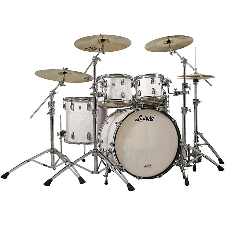 Ludwig Classic Maple 4-Piece Shell Pack White Marine Pearl