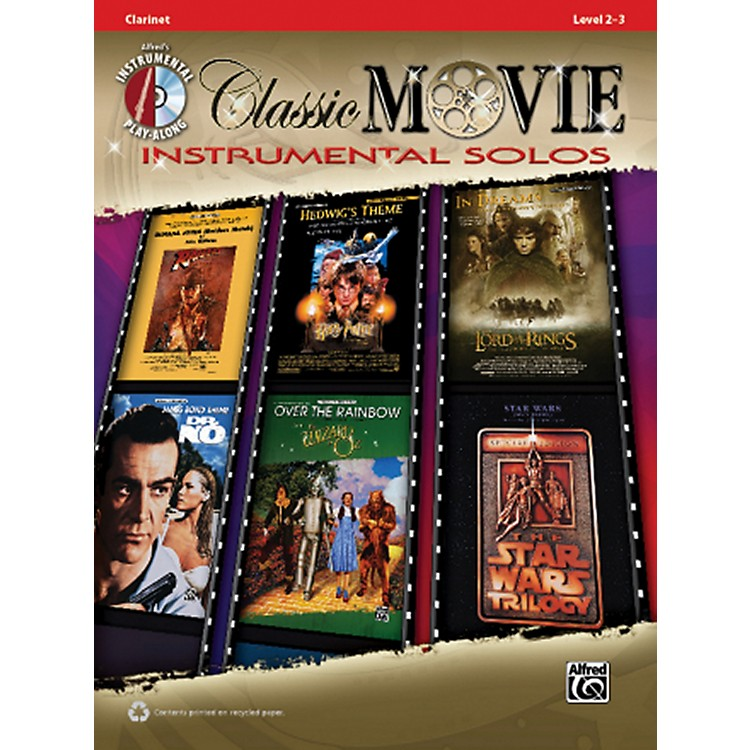 AlfredClassic Movie Instrumental Solos Clarinet Play Along Book/CD