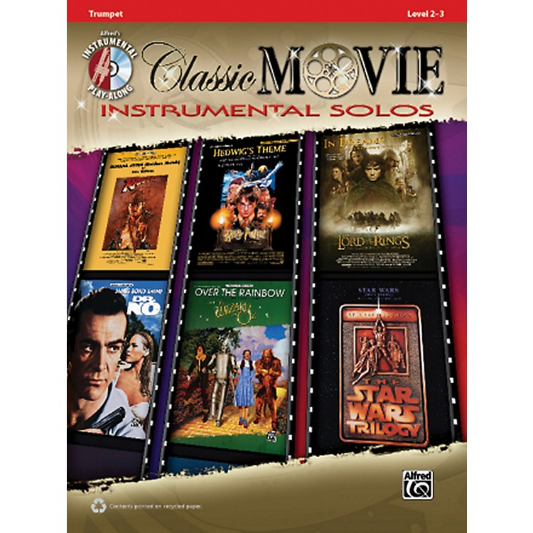 AlfredClassic Movie Instrumental Solos Trumpet Play Along Book/CD
