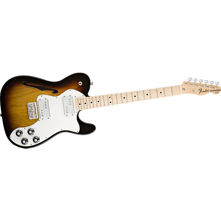 Fender Classic Player Telecaster Thinline Deluxe Electric Guitar Deluxe 3-Color Sunburst