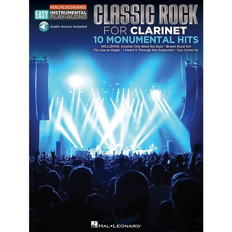 Hal LeonardClassic Rock - Clarinet - Easy Instrumental Play-Along Book with Online Audio Tracks