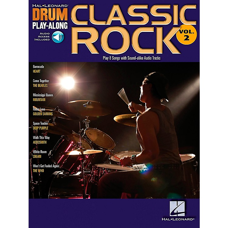 Hal LeonardClassic Rock Drum Play-Along Series Volume 2 Book with CD
