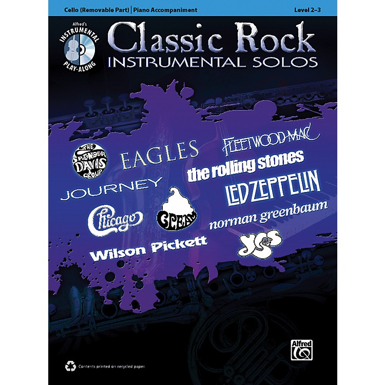 AlfredClassic Rock Instrumental Solos for Strings Cello Book & CD