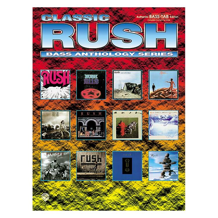 AlfredClassic Rush Anthology Series Bass Tab Book