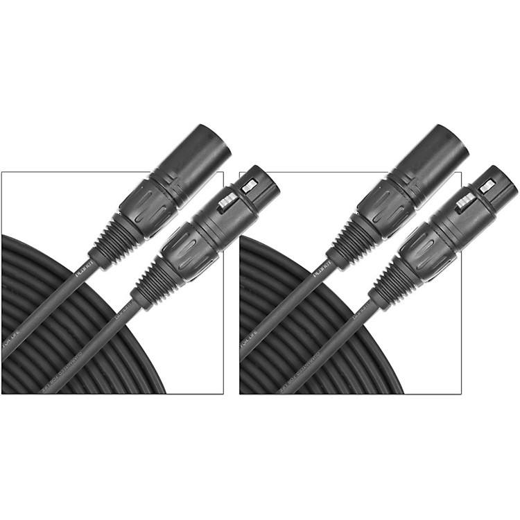 D'Addario Planet Waves Classic Series Microphone Cable (Lo-Z) 2-Pack  50 Foot