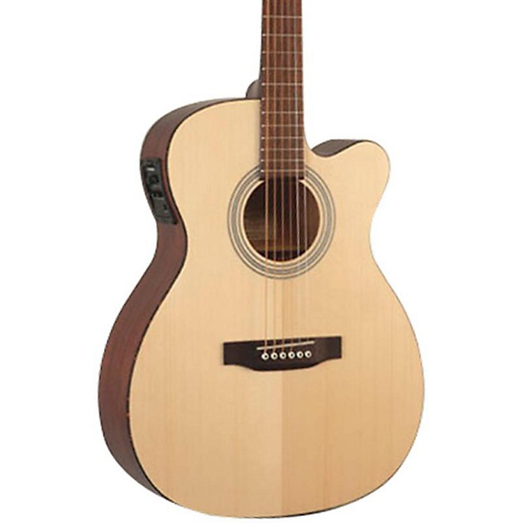 Recording King Classic Series OOO Cutaway Acoustic-Electric Guitar Natural