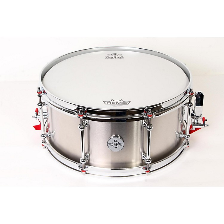 DunnettClassic Stainless Steel Snare Drum#4, 6.5 x 14888365904863
