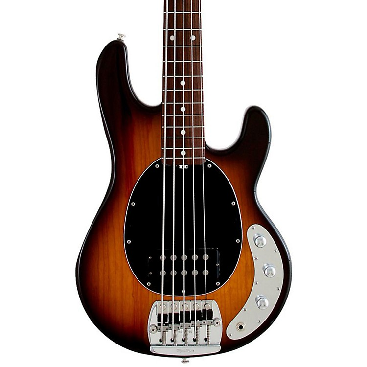 Ernie Ball Music Man Classic Stingray 5 Electric Bass Guitar Tobacco Burst Rosewood Fretboard with Birdseye Maple Neck