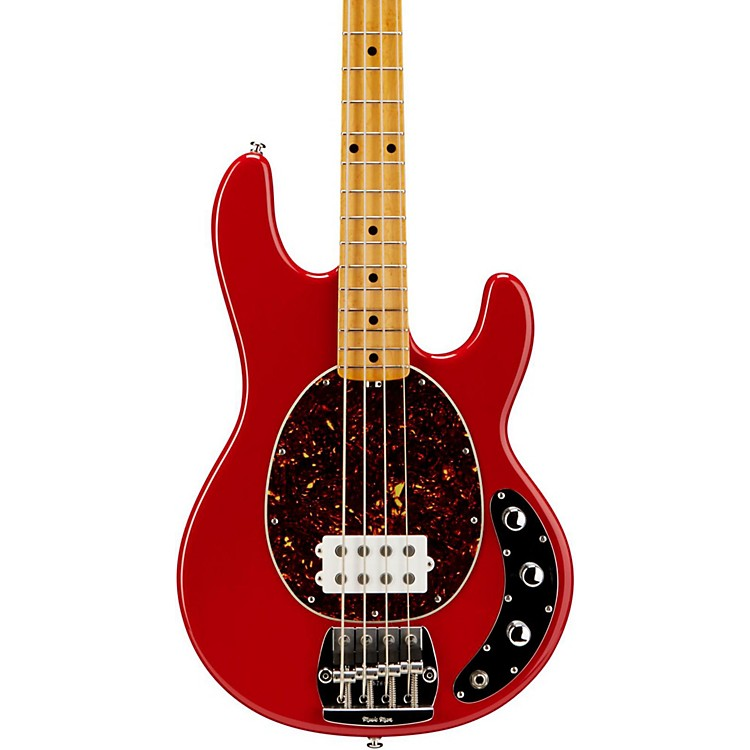 ernie ball music man classic stingray electric bass guitar classic red music123. Black Bedroom Furniture Sets. Home Design Ideas