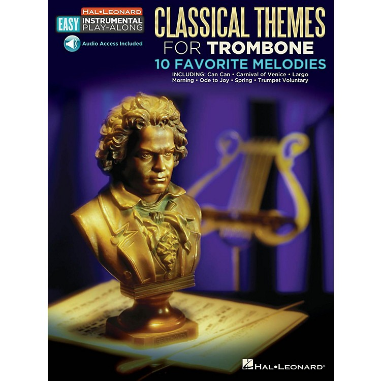 Hal LeonardClassical Themes - Trombone - Easy Instrumental Play-Along Book with Online Audio Tracks