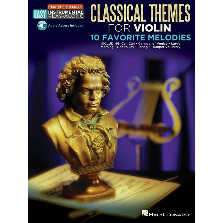 Hal Leonard Classical Themes - Violin - Easy Instrumental Play-Along Book with Online Audio Tracks