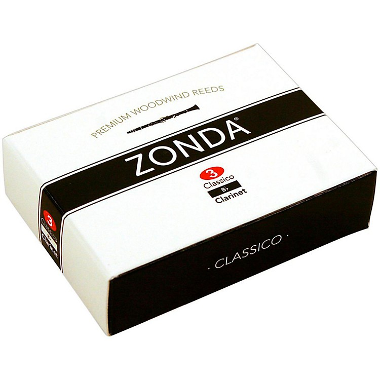 Zonda Classico Bb Clarinet Reed Strength 3 Box of 10