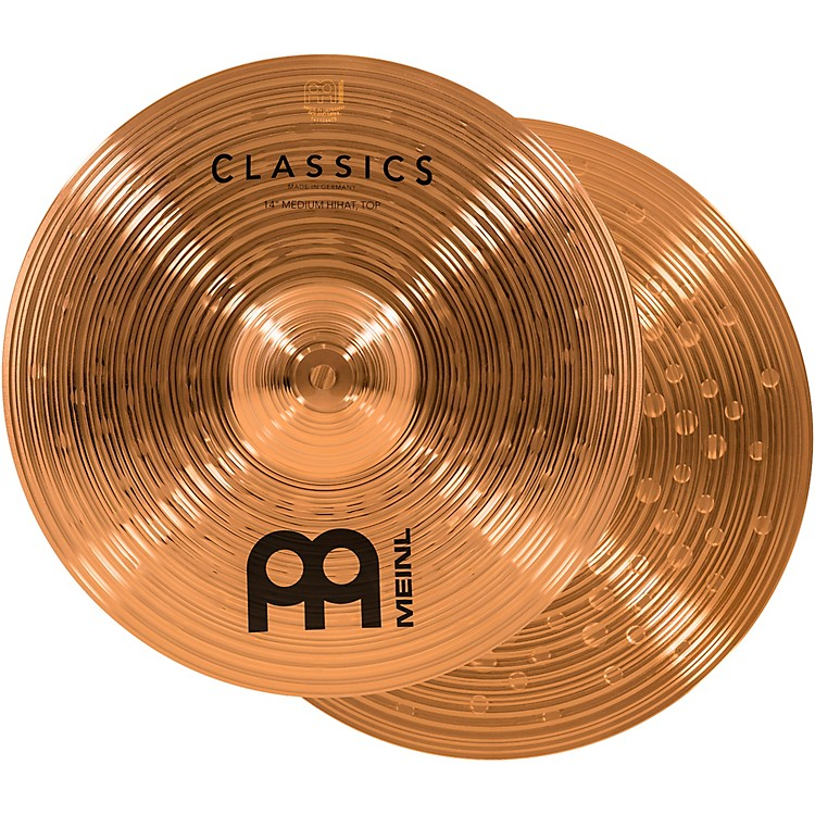 Meinl Classics Medium Hi-Hat Cymbals 14 in.