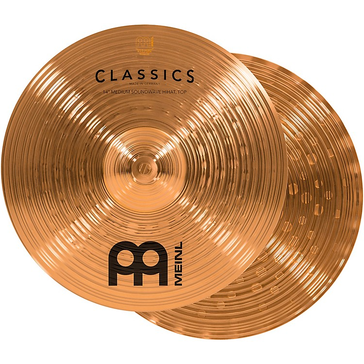 MeinlClassics Medium Soundwave Hi-Hat Cymbals14 in.