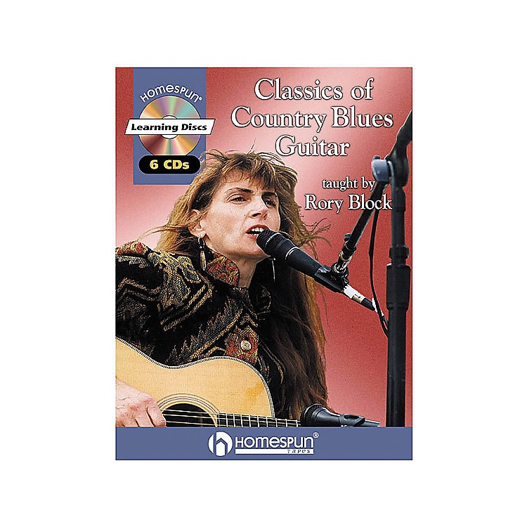 Homespun Classics of Country Blues Guitar Taught by Rory Block Book with CD