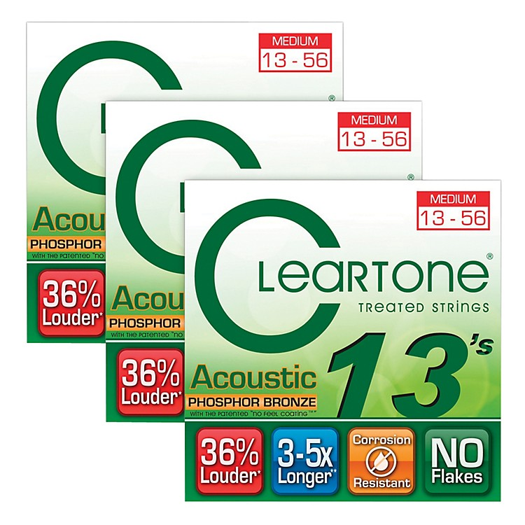 CleartoneCleartone Coated Medium Acoustic Guitar Strings Buy 2 Get One Free
