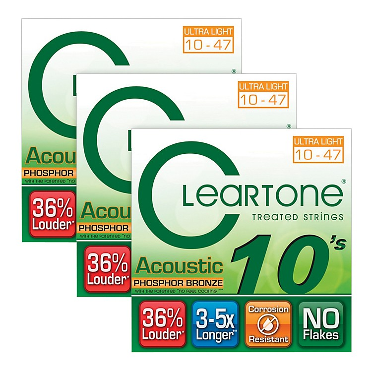 CleartoneCleartone Coated Ultra Light Acoustic Guitar Strings Buy Two Get One Free