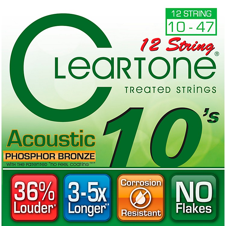 CleartoneCoated Phosphor-Bronze Light Acoustic Guitar Strings