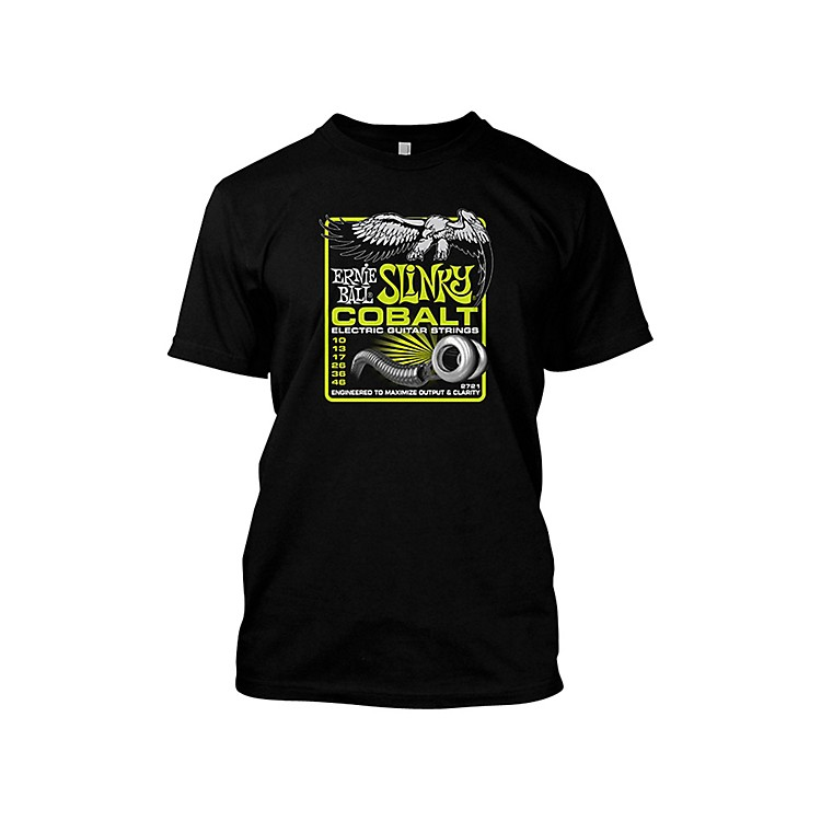 Ernie Ball Cobalt Slinky T-Shirt Black Small