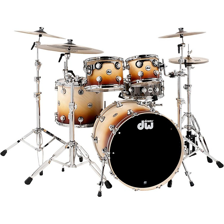 DWCollector's Series 4-Piece Satin Specialty Burnt Toast Fade Shell Pack with Chrome Hardware