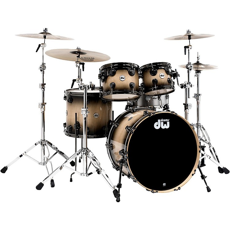 DW Collector's Series 4-Piece Shell Pack Candy Black Burst Nickel Hardware
