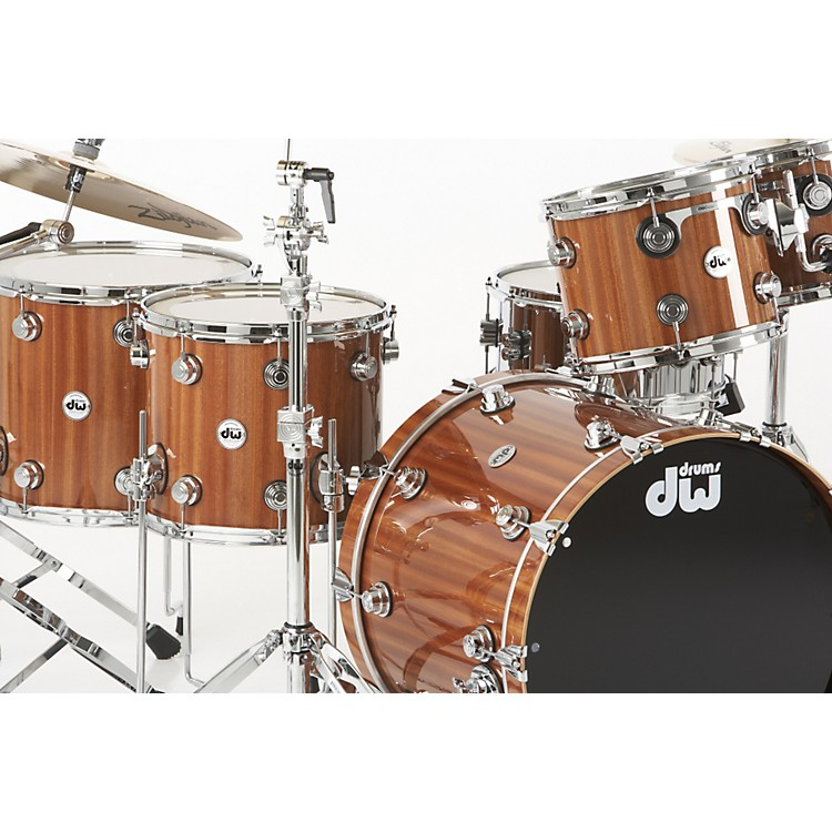 DWCollector's Series 5-Piece Lacquer Custom Shell PackMahogany/Maple withChrome Hardware