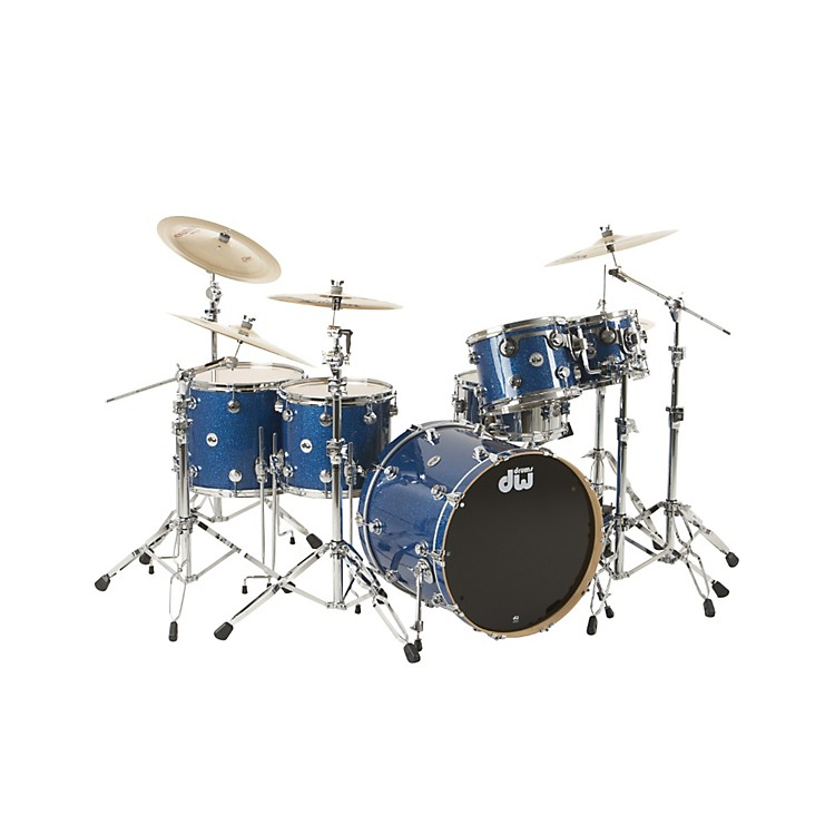 DW Collector's Series 5-Piece Shell Pack Blue Glass Chrome Hardware