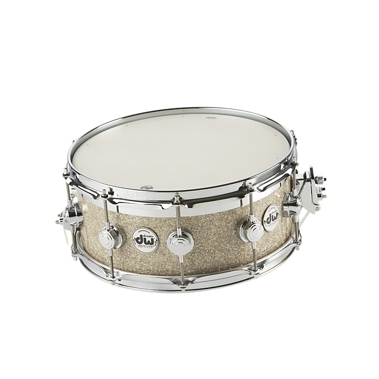 DW Collectors Series FinishPly Top Edge Snare Drum Broken Glass 6x14