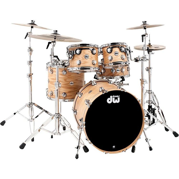 DW Collector's Series Lacquer Custom Oak 4-Piece Shell Pack Natural Hard Satin