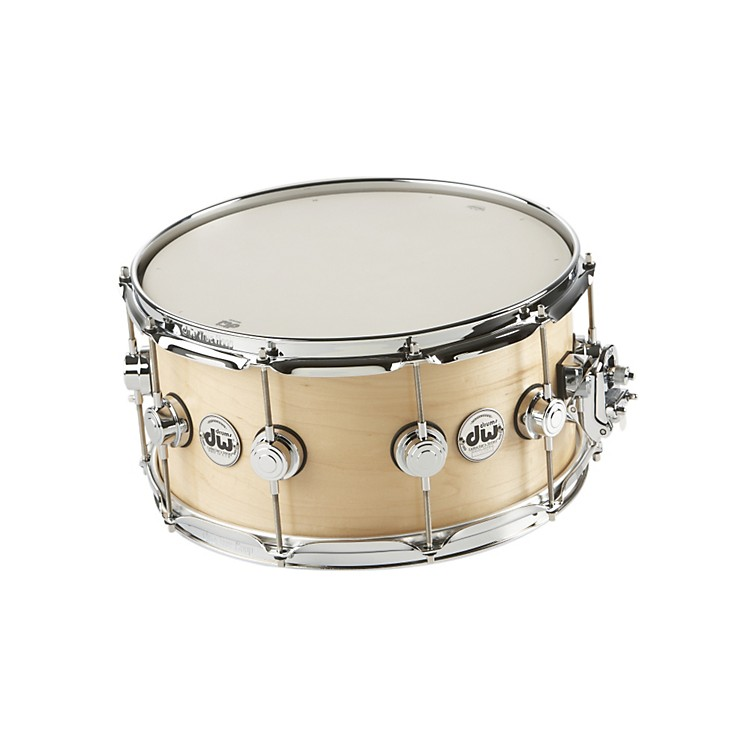 DW Collector's Series Satin Oil Snare Drum Natural with Chrome Hardware 7x14