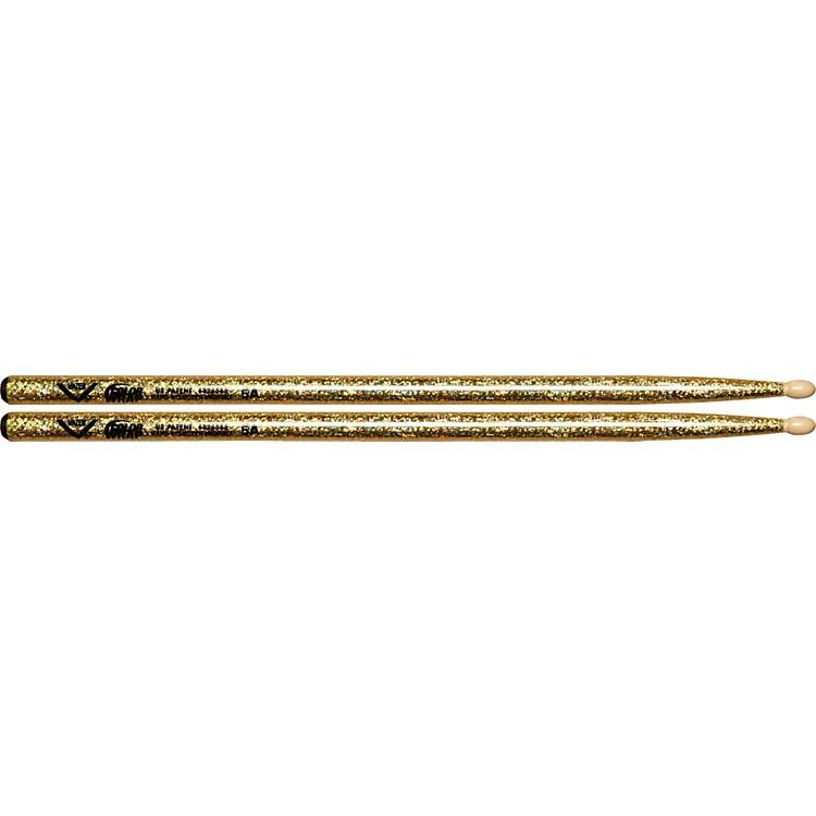 VaterColor Wrap Wood Tip Sticks - Pair5AGold Sparkle