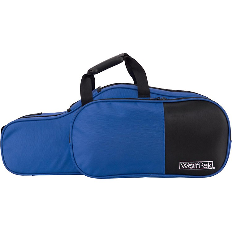 WolfPak Colors Series Lightweight Polyfoam Alto Saxophone Case Blue