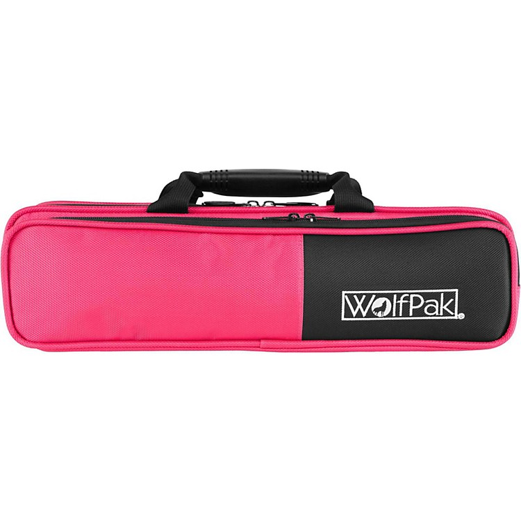 WolfPak Colors Series Lightweight Polyfoam Flute Case Pink