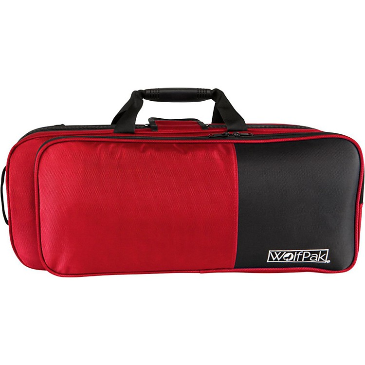 WolfPak Colors Series Lightweight Polyfoam Trumpet Case Red