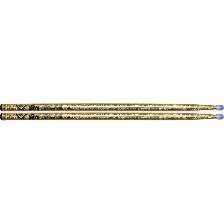 Vater Colorwrap Nylon Tip Sticks - Pair Gold Sparkle 5A
