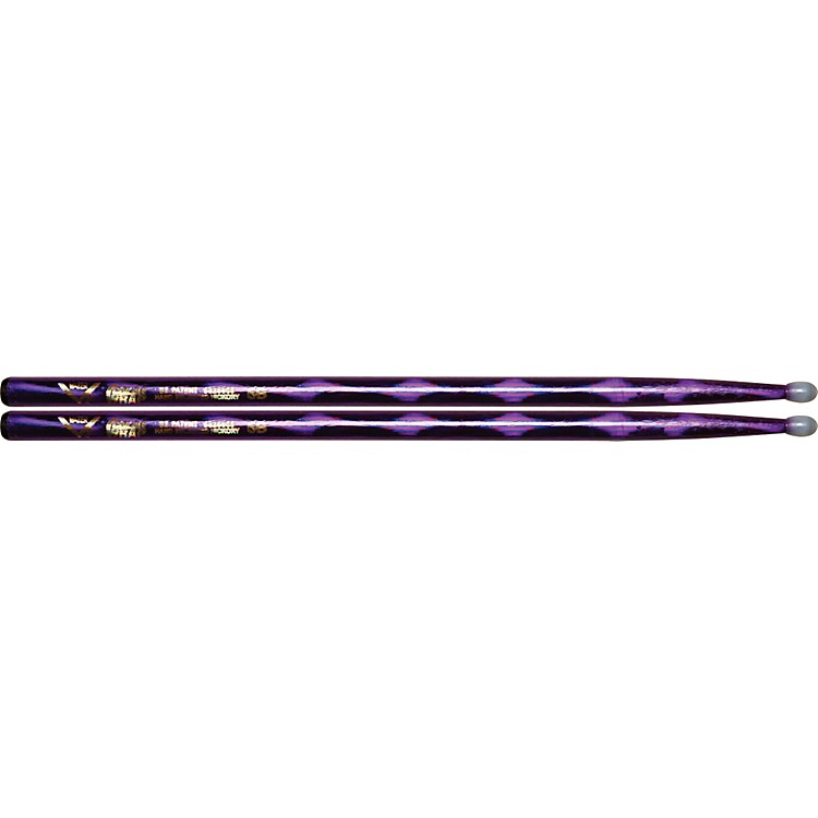 Vater Colorwrap Nylon Tip Sticks - Pair Purple Optic 5B