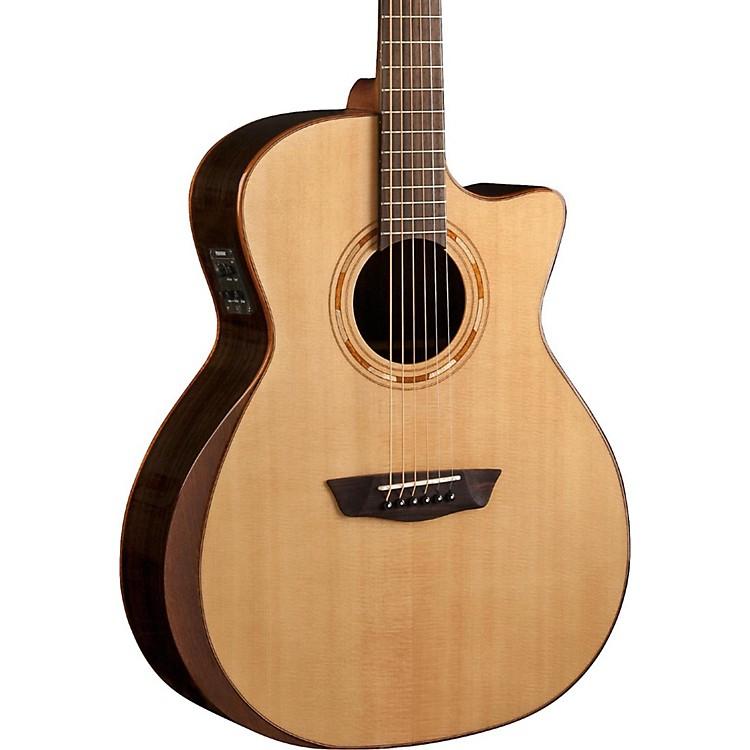 washburn comfort series usm wcg20sce acoustic electric guitar natural music123. Black Bedroom Furniture Sets. Home Design Ideas