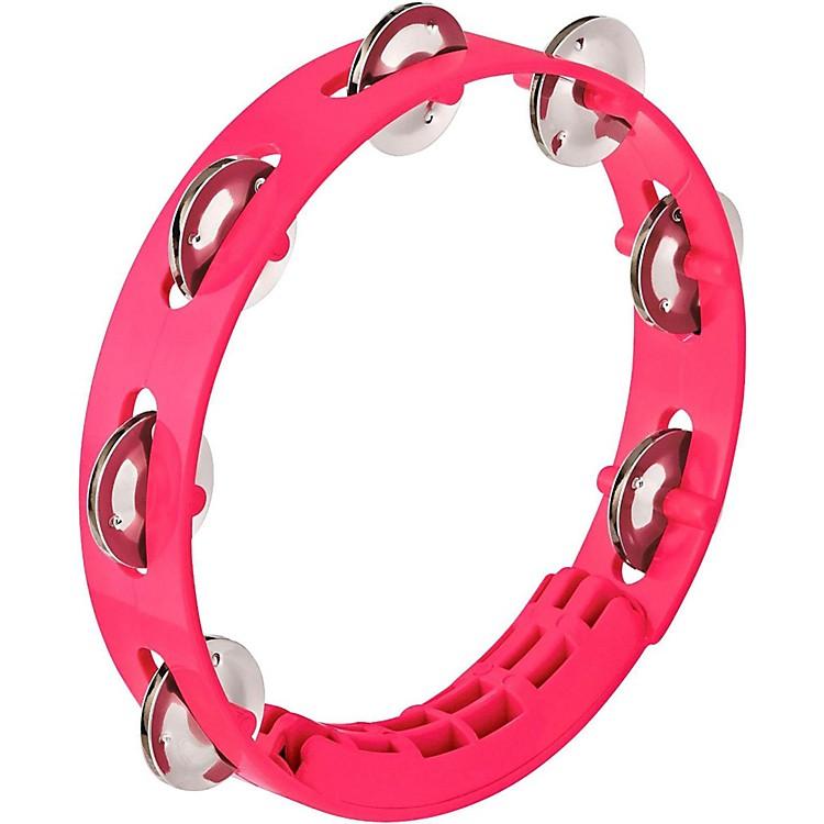 NinoCompact ABS Plastic Handheld Tambourine8 in.Strawberry Pink