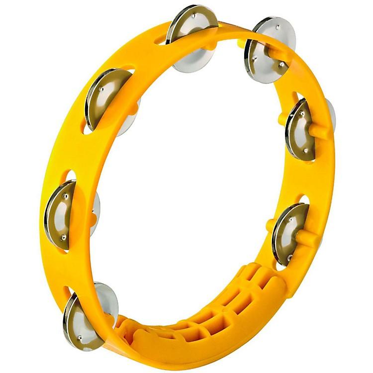 NinoCompact ABS Plastic Handheld Tambourine8 in.Yellow