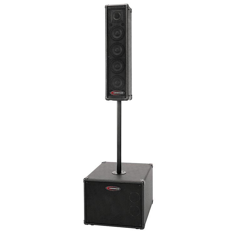 Harbinger Compact Portable PA System Black