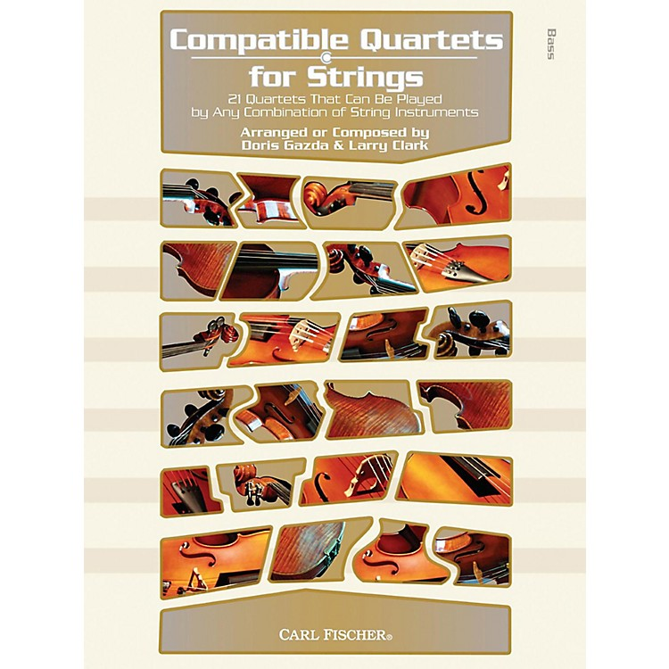 Carl FischerCompatible Quartets for Strings Book - Bass