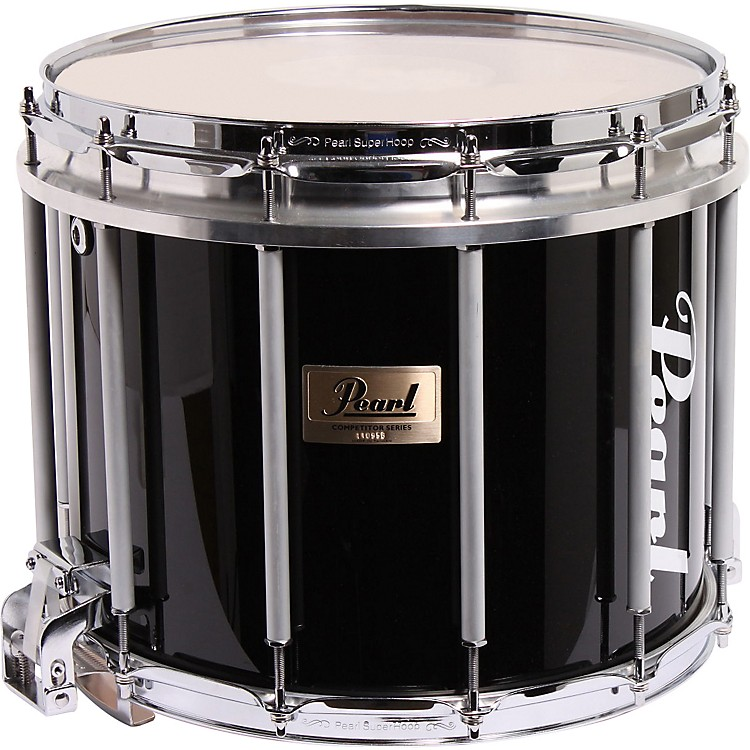 PearlCompetitor High-Tension Marching Snare DrumMidnight Black14x12 Inch High Tension