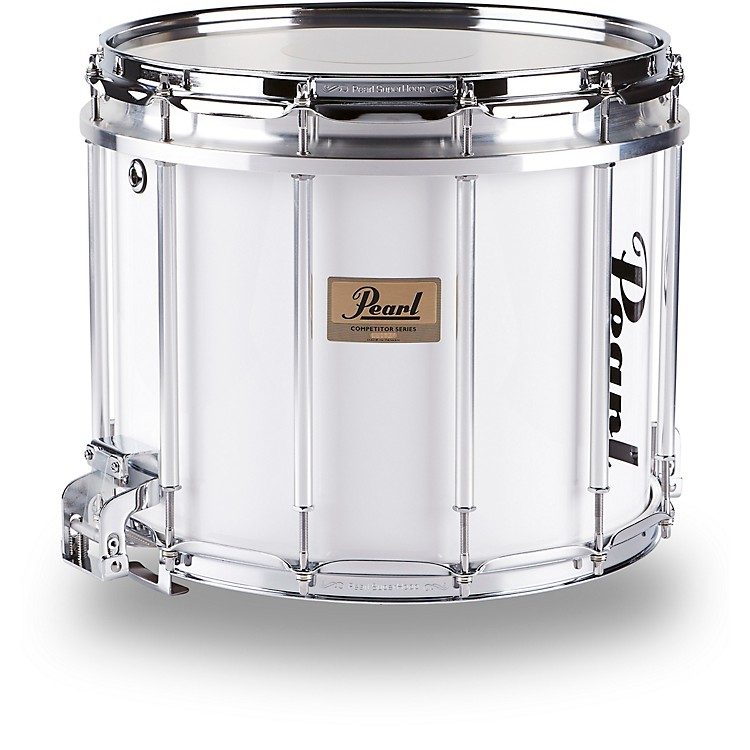Pearl Competitor High-Tension Marching Snare Drum White 14 x 12 in. High Tension