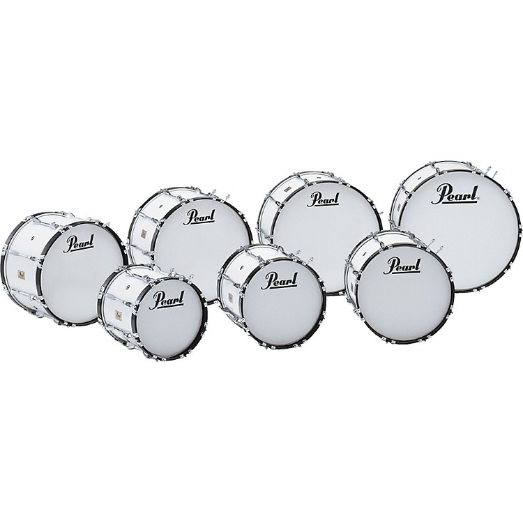 PearlCompetitor Marching Bass Drum#33 Pure White26x14